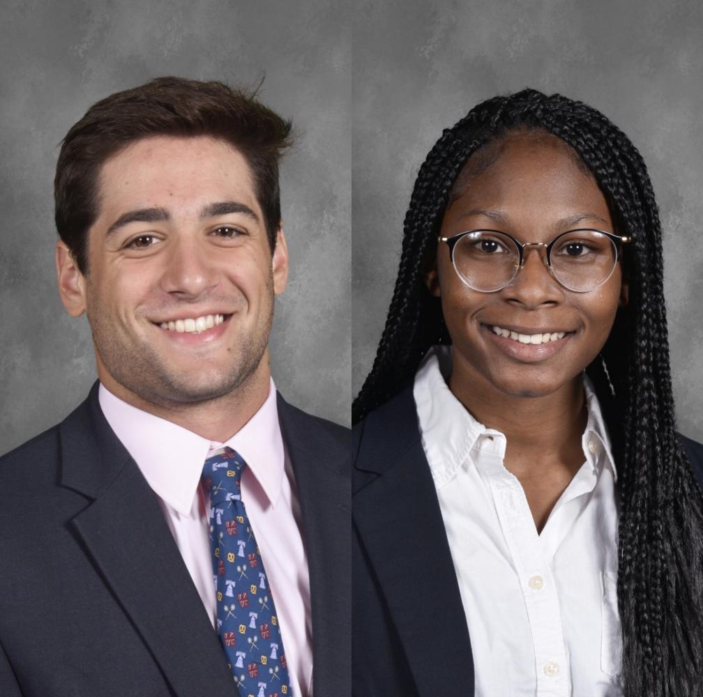 Chirieleison and Mayfield as 2020-21 SGA Co-Presidents