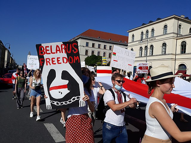 This Aug. 21 protest in Belarus proved to be just one of many. SOURCE: Henning Schlottmann / Wikimedia Commons