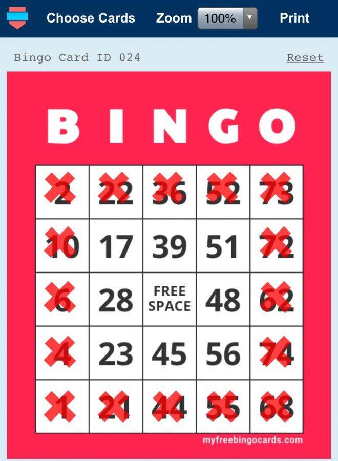 A winning BINGO card on the website https://mfbc.us/ Screenshot courtesy by Amanda Hudak '24