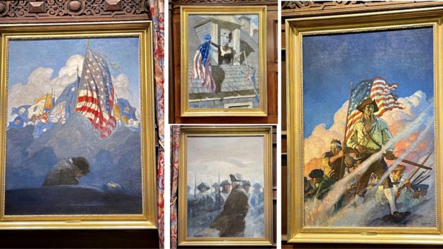 The paintings above are a part of the collection of 17 donated by Michael Sweeney in the spring of 1923. Photos by Erick Sun '24.