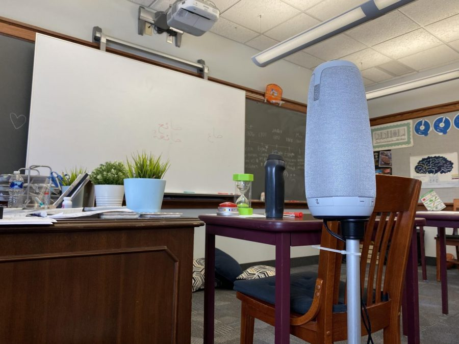 OWL is a device used for virtual learning. Photo by Erick Sun '24.