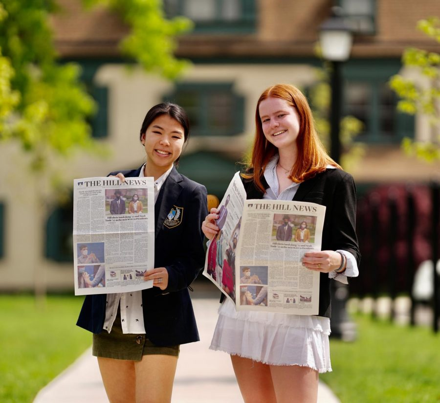 Elizabeth Hudak and Tess McArdle have served as editors-in-chief for the 2020-21 school year. Photo by Erick Sun '24.