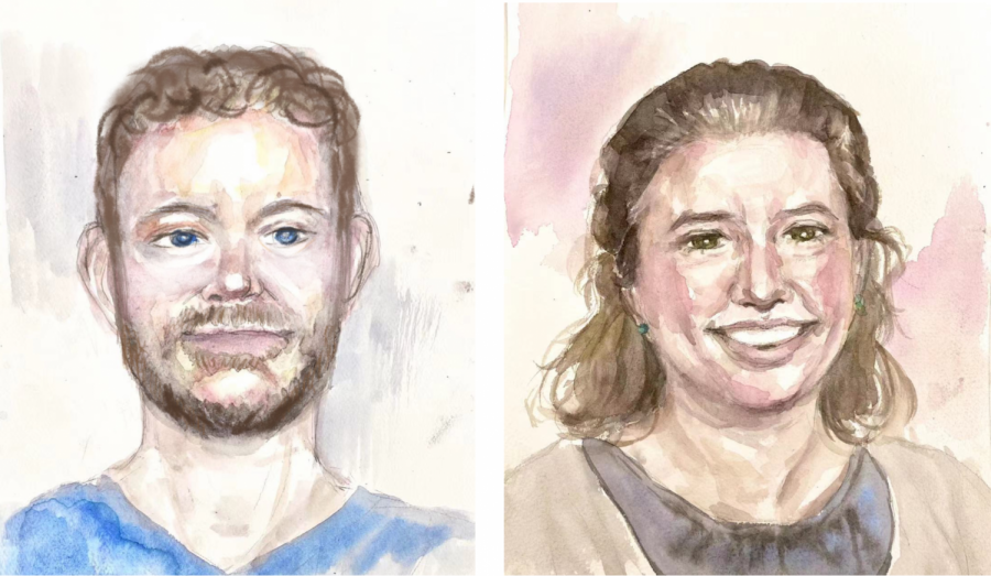 Ed Turner and Larissa Snyder have seved as the Class of 2021's form deans since 2017. Illustration by Tina Wang '22.