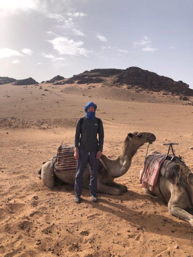 Blake Groff 22 tours the Sahara Desert in Morocco.