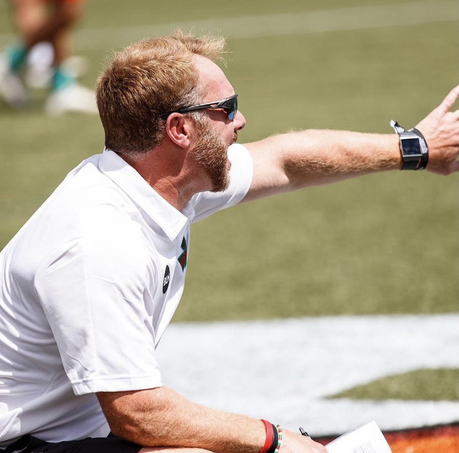 Mike Murphy coaches the Whipsnakes Lacrosse Club