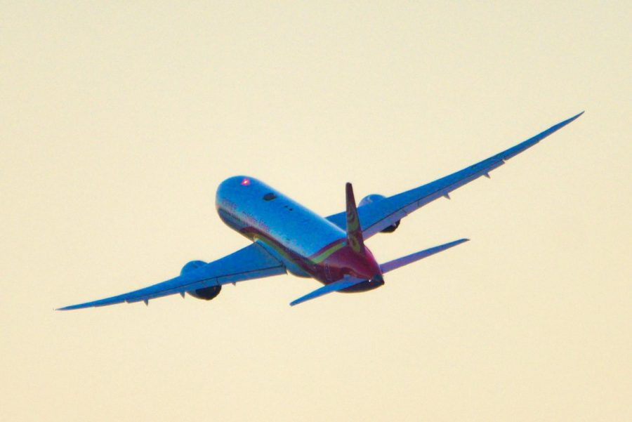 Air travel is the most common way of going home for international students.